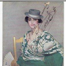 Cartes Postales: POSTAL ARTISTICA DIBUJADA, ESPAÑA, RAMON CASAS, EDICIONES VICTORIA, NR.4161,CIRC.CON SU SELLO. Lote 273744503