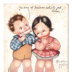 Postales: TARJETA POSTAL TEMÁTICA - SÓLO UNA NOTA PARA TI - ILUSTRACION DE BEATRICE MALLET - CIRCULADA EN 1934. Lote 276976798
