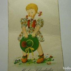 Postales: POSTAL NIÑA ESCRITA -CM. Lote 277201408