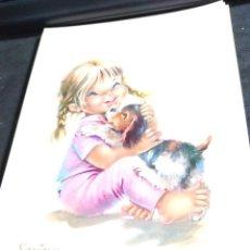 Cartoline: POSTAL CONSTANZA * CHICA CON SU PERRITO * 1962. Lote 277506143