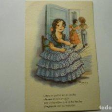 Cartoline: POSTAL DIBUJO GIRONA.-ANDALUZA SERIE MELODIAS EN BOGA-ESCRITA CM. Lote 277567563