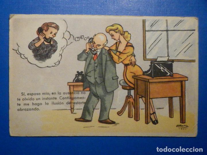 POSTAL DIBUJOS Y CARICATURAS - SI ESPOSA MIA, EN LA AUSENCIA - POSTALES BEA SERIE XIV - 1951 (Postales - Dibujos y Caricaturas)