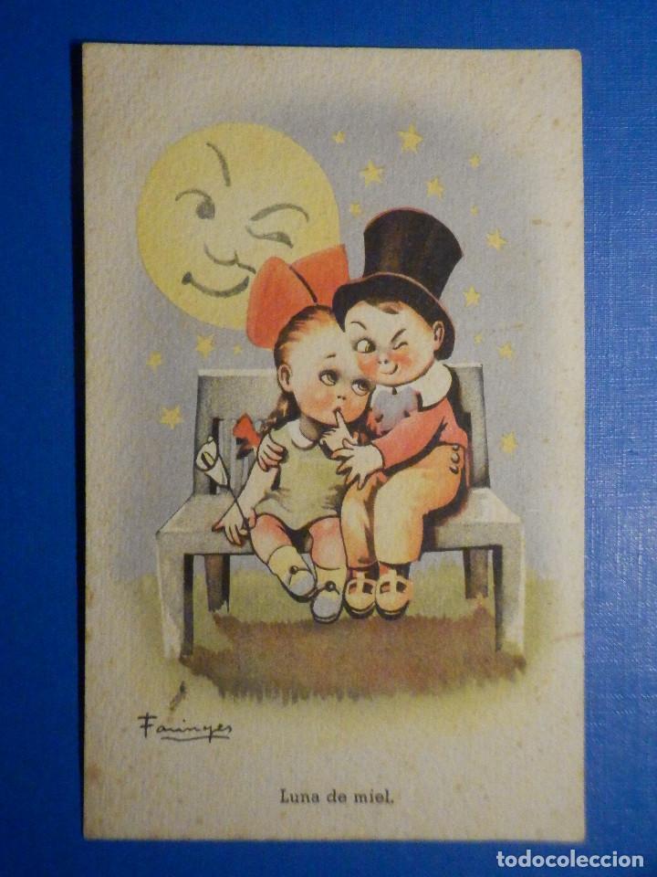 POSTAL DIBUJOS Y CARICATURAS - LUNA DE MIEL - CMB - C.M.B SERIE 27 - 1947 (Postales - Dibujos y Caricaturas)