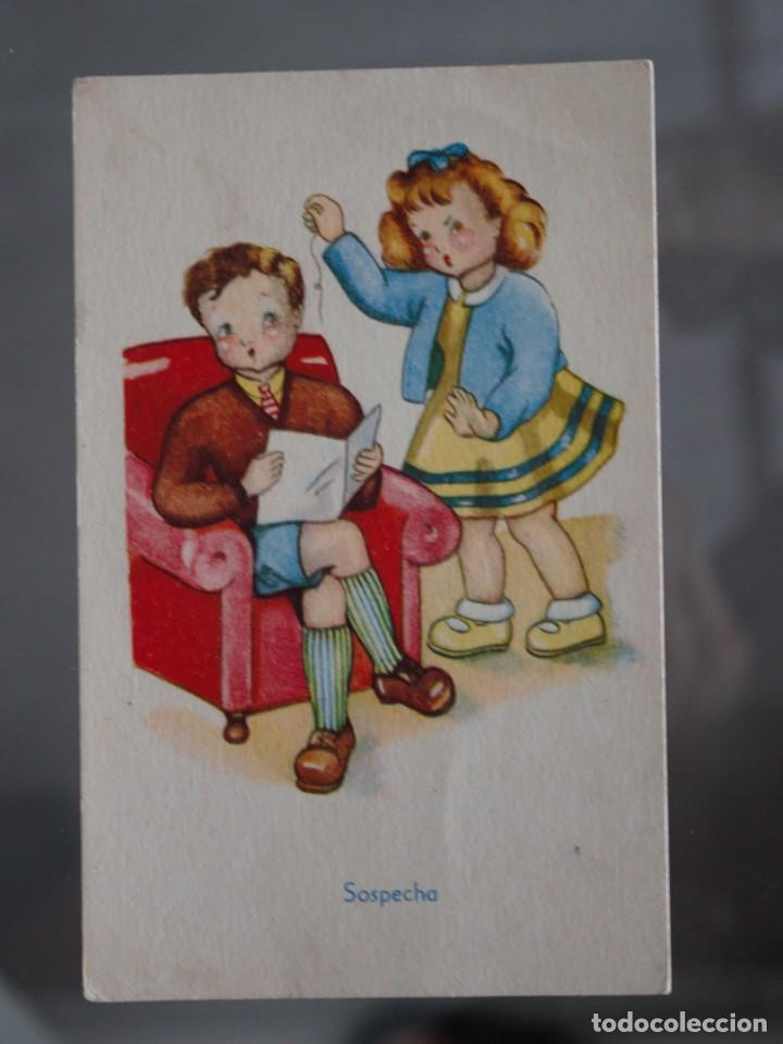 POSTAL SOSPECHA (Postales - Dibujos y Caricaturas)