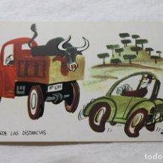Postales: POSTAL MINGOTE GUARDE LAS DISTANCIAS, 1962 D.G. DE LA JEFATURA DE TRAFICO. Lote 278922958