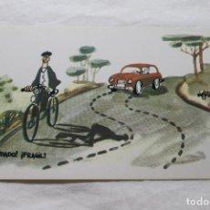 Postales: POSTAL MINGOTE CUIDADO FRAGIL, 1962 D.G. DE LA JEFATURA DE TRAFICO. Lote 278923083