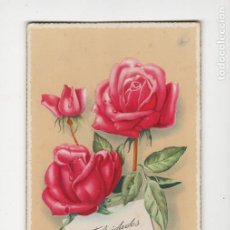 Postales: FELICIDADES CON ROSAS, ILUSTRA GÉZA ZSOLT, 1962. Lote 279572108