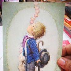 Cartoline: POSTAL FERRANDIZ JUEGO DE CORAZONES 1990 ESCRITA ESTADO REGULAR AGUJEROS DE GRAPA. Lote 282955173