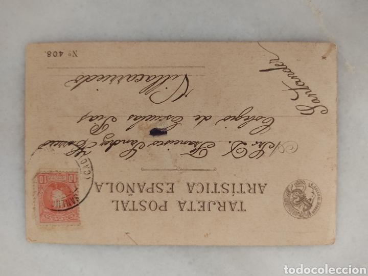Postales: antigua tarjeta postal artística española Chiste Azaila Sanlucar circulada 1904 - Foto 2 - 287238303