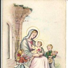 Cartoline: POSTAL *F. GISBERT SOLER* LA VIRGEN CON LOS NIÑOS - ED. CYZ 566/A Nº 1 - SIN USAR. Lote 287597438