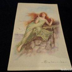 Postales: POSTAL ANTIGUA DIBUJO MUJER ED COLOMBON ITALIA 1697-2. Lote 288589943