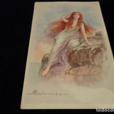 Postales: POSTAL ANTIGUA DIBUJO MUJER ED COLOMBON ITALIA 1697-1. Lote 288590008