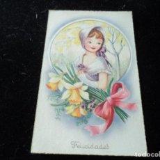 Postales: POSTAL DE FELICIDADES - EDIC. LAIETANA - EDITORIAL ARTIGAS 1955 S. VICENTE DELS HORTS. Lote 288601513
