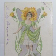 Cartes Postales: POSTAL, DIBUJO SEÑORITA. Lote 288724263