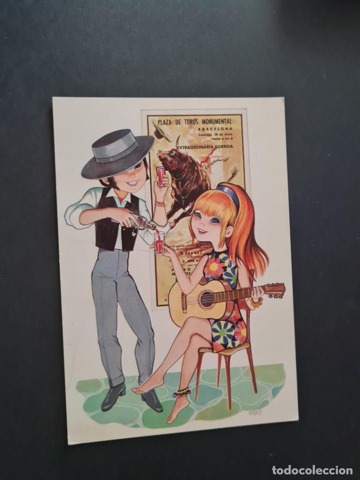 LOTE AB 20-50 POSTAL OLE VACACIONES MARTA RIBAS ED. BERGAS (Postales - Dibujos y Caricaturas)