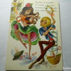 Postales: POSTAL TURISTAS DIBUJO ARIAS C Y Z 7O88. Lote 289524888