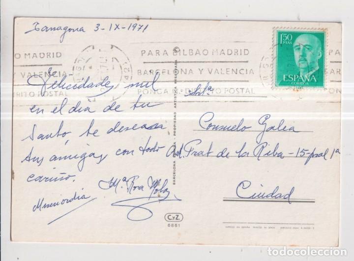 Postales: Postal de Dibujos de Avias de Bella Niña Comiendo vonvón Editada CyZ Circulada el año 1971 - Foto 2 - 289583858