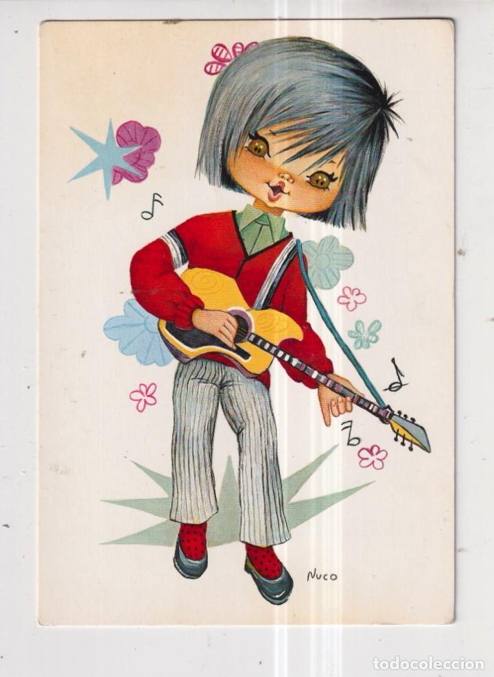 POSTAL DE DIBUJOS DE NUCO DE NIÑO CON LA GUITARRA EDITADA CYZ ESCRITA EL AÑO 1970 (Postales - Dibujos y Caricaturas)