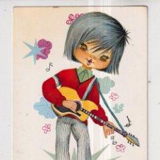 Postales: POSTAL DE DIBUJOS DE NUCO DE NIÑO CON LA GUITARRA EDITADA CYZ ESCRITA EL AÑO 1970. Lote 289585548