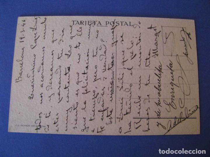 Postales: POSTAL DE ILUSTR. J. B. ED. JOTABE. SERIE G. ESCRITA 1946. - Foto 2 - 289588463