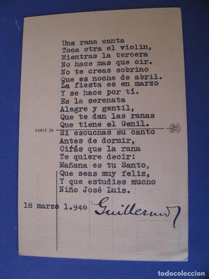 Postales: POSTAL DE ILUSTR. FARIÑAS. ED. TRIO, SERIE 34. ESCRITA 1946. - Foto 2 - 289589038
