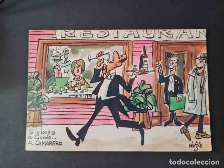 LOTE AB 40-2000. POSTAL - MINGOTE - SI LE TOCARA EL GORDO ... AL CAMARERO - AÑO 1969 (Postales - Dibujos y Caricaturas)