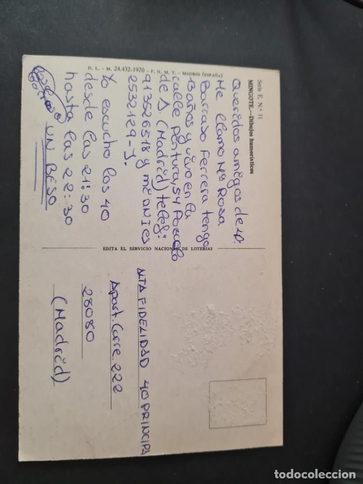 Postales: LOTE AB 40-2000. POSTAL - MINGOTE - SI LE TOCARA EL GORDO ... AL CAMARERO - año 1969 - Foto 2 - 289591003