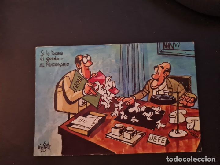 LOTE AB 40-2000. POSTAL MINGOTE SI LE TOCARA EL GORDO AL FUNCIONARIO (Postales - Dibujos y Caricaturas)