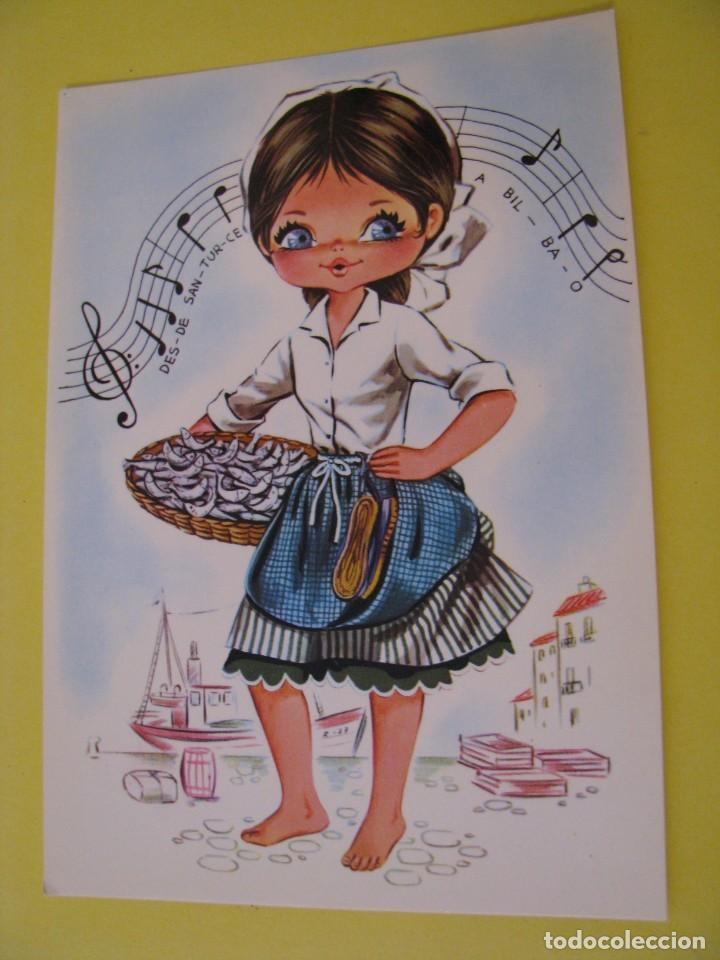 POSTAL DE IL. CREUS? TIPICA VASCA. ED. SAVIR 6114. (Postales - Dibujos y Caricaturas)