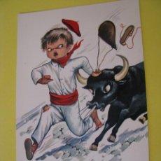 Postales: POSTAL DE ED. SAVIR. ESPAÑA TIPICA, SAN FERMIN. Nº 219.. Lote 289701068
