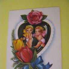 Cartes Postales: POSTAL TROQUELADA DE IL. M. NUBIO. S. BEBES, FLORES, GATOS. ED. RAM. 11,5X8,5 CM.. Lote 289702108