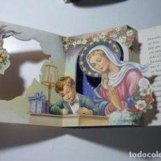 Postales: POSTAL FELICITACION TROQUELADA *GIRONA* - DIA DE LA MADRE - CON DESPLEGABLE, AÑO 1960. Lote 289750668