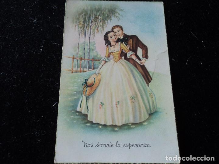 NOS SONRÍE LA ESPERANZA - ED. CYZ 522 CIRCULADA 1950 (Postales - Dibujos y Caricaturas)