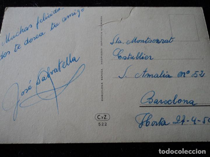 Postales: NOS SONRÍE LA ESPERANZA - ED. CYZ 522 circulada 1950 - Foto 3 - 290002488