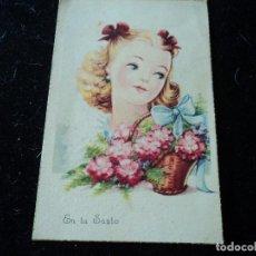 Postales: EN TU SANTO, ED. SOBERANAS, SERIE P CIRCULADA 1947. Lote 290002828