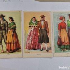 Postales: P-12897. LOTE DE 7 POSTALES TRAJES TIPICOS ESPAÑOLES.. Lote 295012878