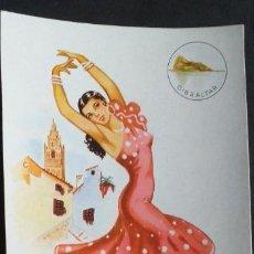 Postales: DIBUJOS Y CARICATURAS-V12B-II-SXX-14X9CM-TRAJES TIPICOS-GIBRALTAR. Lote 295544218