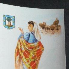Postales: DIBUJOS Y CARICATURAS-V12B-II-SXX-14X9CM-TRAJES TIPICOS-MADRID. Lote 295544253