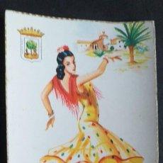 Postales: DIBUJOS Y CARICATURAS-V12B-II-SXX-14X9CM-TRAJES TIPICOS-HUELVA. Lote 295544303