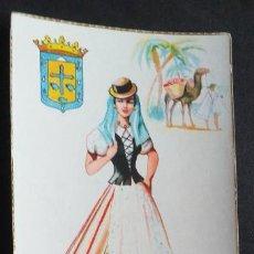 Postales: DIBUJOS Y CARICATURAS-V12B-II-SXX-14X9CM-TRAJES TIPICOS-CANARIAS. Lote 295545763