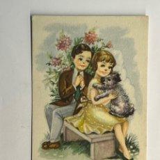 Postais: DIBUJOS Y CARICATURAS. POSTAL INFANTIL ILUSTRA GIRONA EDIC. ARTIGAS SERIE 172 (H.1950?). Lote 295758128