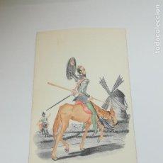 Postales: TARJETA POSTAL. CARICATURA. EL QUIJOTE DE LA MANCHA. M.2. LANGA Y COMPAÑÍA. Lote 296925863