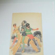 Postales: TARJETA POSTAL. CARICATURA. EL QUIJOTE DE LA MANCHA. M.9. LANGA Y COMPAÑÍA. Lote 296926073