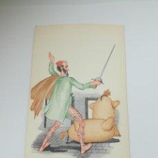Postales: TARJETA POSTAL. CARICATURA. EL QUIJOTE DE LA MANCHA. M.4. LANGA Y COMPAÑÍA. Lote 296926133