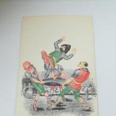 Postales: TARJETA POSTAL. CARICATURA. EL QUIJOTE DE LA MANCHA. M.3. LANGA Y COMPAÑÍA. Lote 296926323