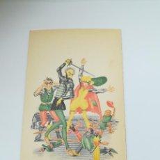 Postales: TARJETA POSTAL. CARICATURA. EL QUIJOTE DE LA MANCHA. M.8. LANGA Y COMPAÑÍA. Lote 296926458