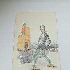 Postales: TARJETA POSTAL. CARICATURA. EL QUIJOTE DE LA MANCHA. M.6. LANGA Y COMPAÑÍA. Lote 296926633