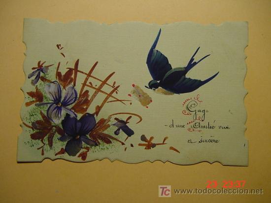 7334 ACUARELA - 1920 UNA PEQUEÑA OBRA DE ARTE ORIGINAL MAS EN MI TIENDA TC COSAS&CURIOSAS (Postales - Postales Temáticas - Dibujos originales y Grabados)