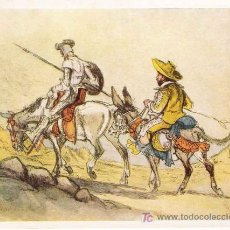 Postales: DON QUIJOTE / COPIADO CON LA BOCA POR CEFISCHER ( 1959). Lote 23541744
