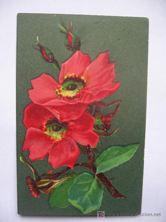 Postal Con Flores Con Muy Bonitos Colores Comprar Postales